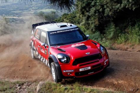 MINI WRC Team, 1st Rally in Sardinia, Shakedown at Olbia