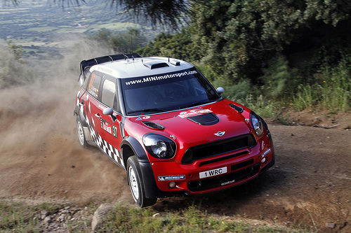 MINI WRC Team, 1st Rally in Sardinia, Shakedown at Olbia