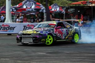 Photo by Dave Nisbet. Zane Hussain on track at the Lotus FM SupaCharged event-