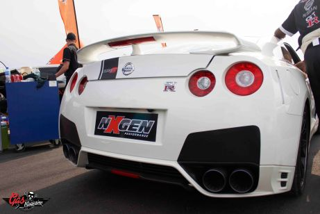 FASTEST OF THE DAY, BASIL PAPAGEORGIO'S  SKYLINE GTR 9.197SEC @ 255KM